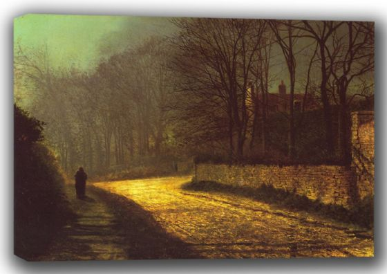 Grimshaw, John Atkinson: The Lovers. Fine Art Canvas. Sizes: A4/A3/A2/A1 (001734)